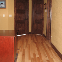 Interior Stain of Doors and Trim